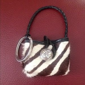 Brighton faux fur keyring holder with pouch